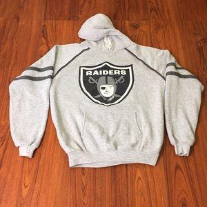 80s Vintage Los Angeles Raiders Hoodie Sweatshirt